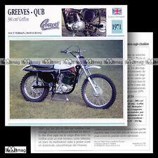 #061.10 GREEVES - QUB 380 GRIFFON 1971 Fiche Moto Motorcycle Card