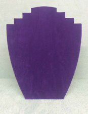 Set of 5 Jewellery Display Card Busts [B] Purple Suede