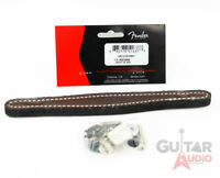 "Genuine Fender BROWN LEATHER 9"" Amplifier/Amp Handle Strap Blonde Twin Vintage"