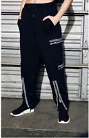 LF the brand black high rise multi exposed zipper sweatpants NWT sz XS $228
