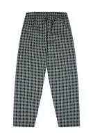 Mens LOUNGE BOTTOMS Long  Black White Woven Check Cotton Men's Loungewear