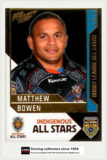 2012 Select NRL Dynasty All Stars Game AS16 Matthew Bowen (Indigenous All Stars)