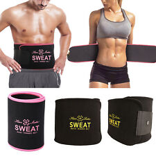 Men Women Sweat Waist Trimmer Fat Burn Tummy Belt Fitness Cincher Body Shaper
