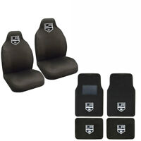NHL Los Angeles Kings Car Truck Front Rear Carpet Floor Mats & Seat Covers Set