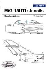 acd72011/ Armycast Decals - MiG-15UTI - Stencils - UdSSR - CSSR - 1/72
