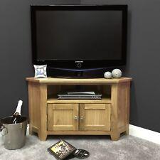 oak corner tv stand with doors solid wood television media unit harvard