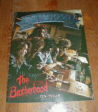 "BON JOVI Orig 1989 ""The Brotherhood On Tour"" Concert Program NM-/NM"