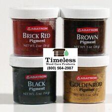 Abatron WoodEpox® Pigment jar of each Black, Brown, Brick Red, Goldenrod