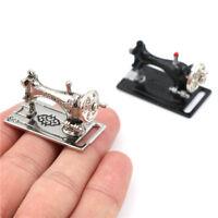 Máquina de coser de metal Casa de muñecas Miniaturas Decoración 1:12 Escala