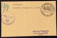 █ Postsache Absender Postamt ST AVOLD 07/04/43 █