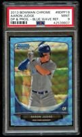 2013 Bowman Chrome Draft Aaron Judge Rookie Blue Wave Refractor PSA 9 Mint RC