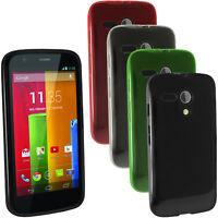 Glossy TPU Gel Skin Case Cover for Motorola Moto G 4G 1st Generation XT1032 1039