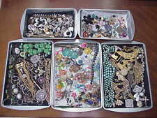 HUGE Vintage & now JUNK Drawer Jewelry CRAFT SCRAP Lot ~ Broken Parts 8 lbs