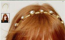 NEW!! Ann Taylor LOFT Gold tone metal studded jeweled Headband