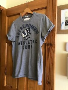 Men's grey Abercrombie and Fitch muscle t-shirt size M  100% cotton