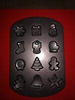 WILTON Teglia 12 Biscotti Tema Natale Inverno