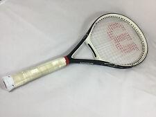 Wilson Black Whisper OS 110 Tennis Racquet 4 1/8 Grip Excellent Condition!!