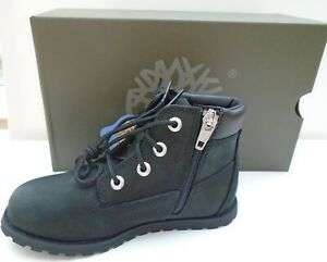 TIMBERLAND POKEY PINE BOY'S  BOOTS BLACK SUEDE WITH SIDE ZIP SIZE 11 NEW IN BOX