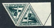 Nederland luchtpost nvph LP 10, driehoekzegel, paartje +randstrook, postfris MNH