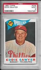 1960 TOPPS #226 EDDIE SAWYER PSA 9 MINT PHILLIES ONLY 1 GRADED HIGHER