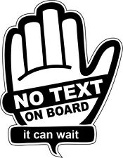 No Text On Board Car Window, Bumper Sticker Don't Text & Drive Decal
