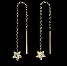 Sterne Ohrringe Durchzieher echt Gold 333 Stern Ohrschmuck Damen Kinder Schmuck