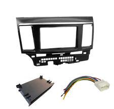 For Mitsubishi Lancer car stereo radio 2 Din fascia dash panel facia kit trim