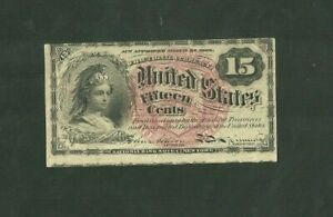 FR No. 1267 15 Cent Fractional Currency United States National Bank Note NY US