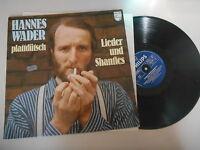 LP Folk Hannes Wader -Plattdütsch : Lieder Shaties (12Song) PHILIPS Liedermacher