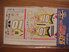 NEW 2003 JERRY NADEAU #01 US ARMY 1/24-1/25 SLIXX WATER SLIDE DECAL SHEET