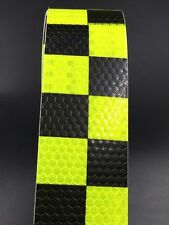 """Grid Reflective Safety Warning Conspicuity Tape Film Sticker 2""""1M"""