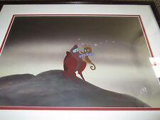 The Little Mermaid 1989 Sebastian & Seahorse Disney production Cel