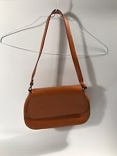 FRANCESCO BIASIA ITALY CAMEL SPLIT CALF SHOULDER BAG