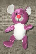 New listing Stuffed velour animal mouse toy Purple Mouse boys girls 3 - 5 years