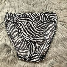 Vtg Warners Animal Skins Panties Zebra Print Black White Sz 7 High Cut Waist