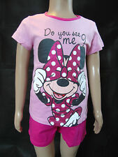 Schlafanzug kurz Disney Minnie Mouse Shorty Pyjama 92 98 104 110 116 122 128