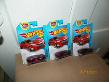 3 2014 Hot Wheels RYURA LX #5 METALLIC  RED; black j5s  HW City