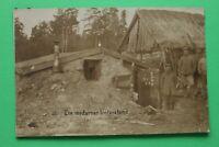 Foto AK Moderner Unterstand Bunker 1914-18 Soldaten Gebäude 1.WK WWI