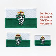 3 Steiermark Österreich Flaggen Graz Wien Patches Aufnäher Aufbügler Set 1127