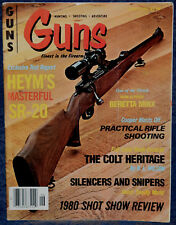 "Magazine *GUNS* June, 1980 !WEBLEY ""Tempest"" Air PISTOL! *SILENCERS and SNIPERS*"