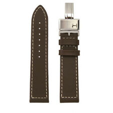 New HAMILTON WATCH STRAP 'Khaki Field L' Dark Brown Genuine Leather 22/20mm Wide