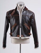 Resident Evil 4 leon kennedy Leather Jacket Coat Costume Cosplay