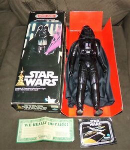 """Vintage Star Wars 1978 12"""" 15"""" Inch Darth Vader Figure NEW W/ OPEN ORIGINAL BOX"""