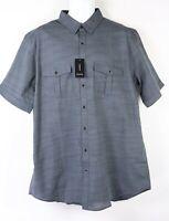 New Alfani SS Shirt LT Large Tall Gray Grey Pockets Mens