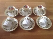 REDUCED Royal Worcester  6 Demitasse Coffee Cans & Saucers Florence 1930s.