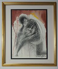 "Original 1967 Salvador Dali Biblia Sacra ""Sedet sola civitas"" Signed - COA"