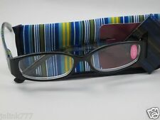 New Foster Grant Rainbow Unisex Reading Eyeglasses+Case-Strenght+2.50