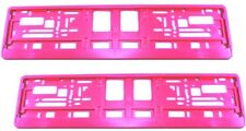 2 x Kennzeichenhalter PINK Versandkostenfrei Nummernschildhalter PREMIUM rosa