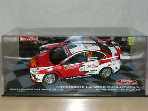 Coche MITSUBISHI LANCER EVOLUTION X Rendina Rally Montecarlo 2014 ixo car 1/43