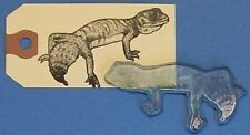 Gecko lizard rubber stamp by Amazing Arts great detail!